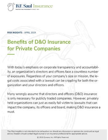 Benefits of D&O Insurance for Private Companies - Cover