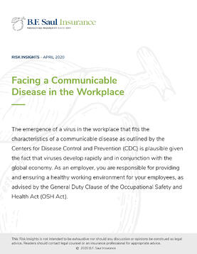 Risk Insight - Facing a Communicable Disease in the Workplace