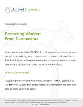 Risk Insight - Protecting Workers from Coronavirus